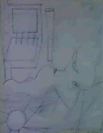 Willem de Kooning-Study for Stenographer-1948