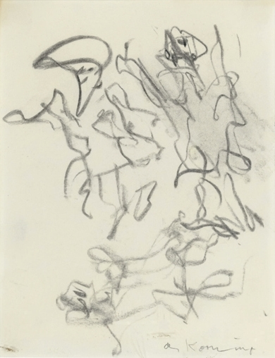 Willem de Kooning-Three Children Playing-1982