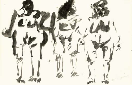 Willem de Kooning-Three Figures-1960