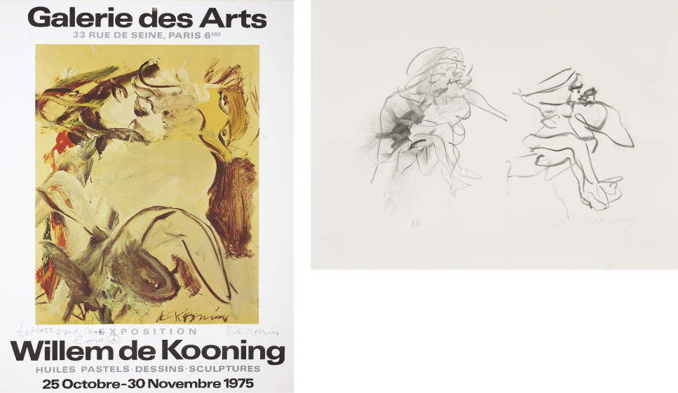Willem de Kooning-Three Figures, Galerie des Arts Exhibition Poster-1975
