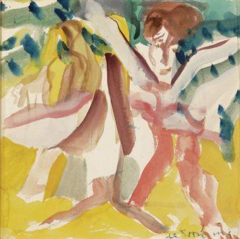 Willem de Kooning-Two Figures-1972