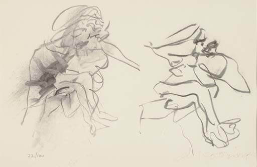 Willem de Kooning-Two Figures-1973