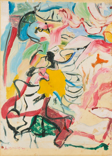 Willem de Kooning-Two Figures in Devon-1971