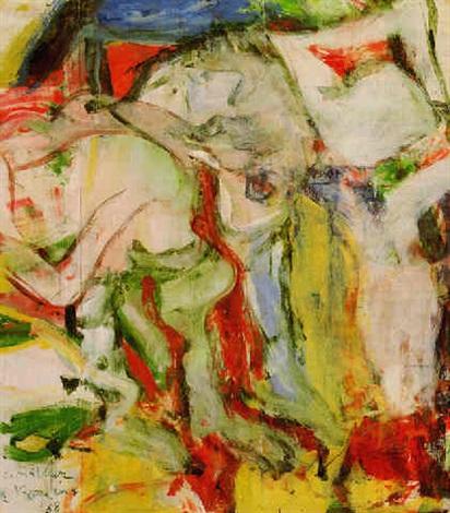 Willem de Kooning-Two Figures in Dunes-