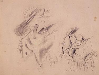 Willem de Kooning-Two Women-1955