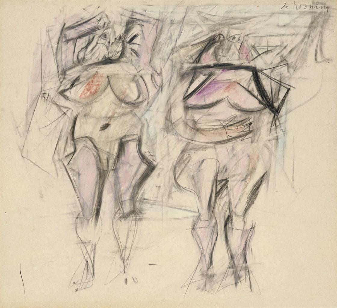 Willem de Kooning-Two Women II-1952