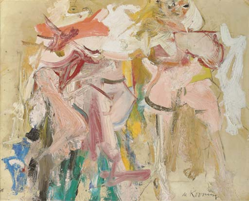 Willem de Kooning-Two Women (Study for Clamdigger)-1962