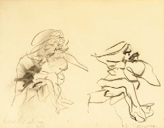 Willem de Kooning-Two figures-1971