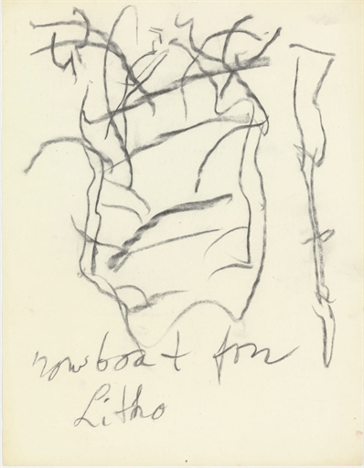 Willem de Kooning-Untitled ('...boat for Litho')-1971
