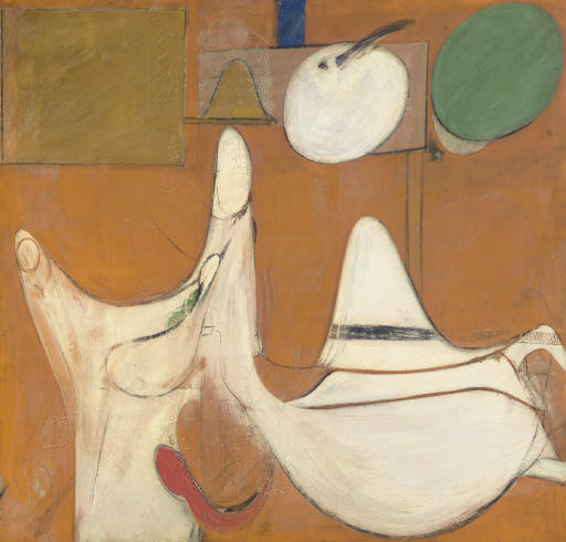 Willem de Kooning-Untitled (Brown and White Abstract Painting)-1942