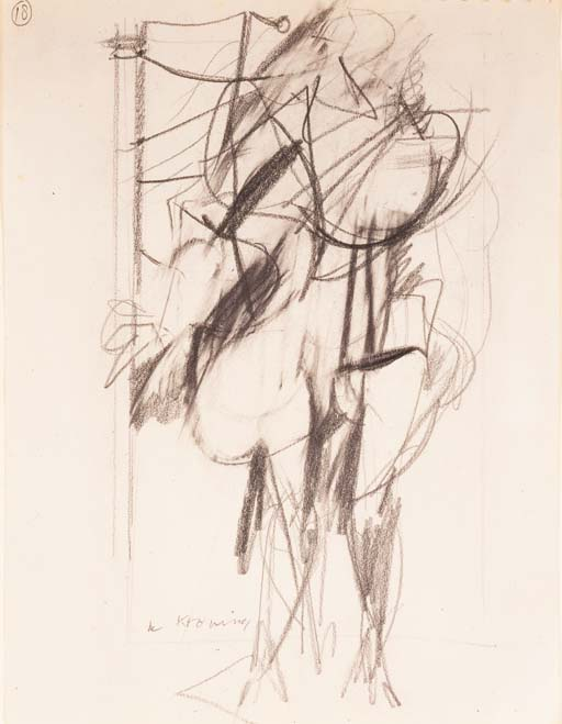 Willem de Kooning-Untitled (Abstract Pencil Drawing)-1950