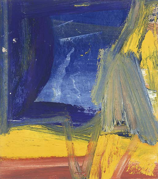 Willem de Kooning-Untitled (Blue, Yellow and Red Abstract Painting)-1956