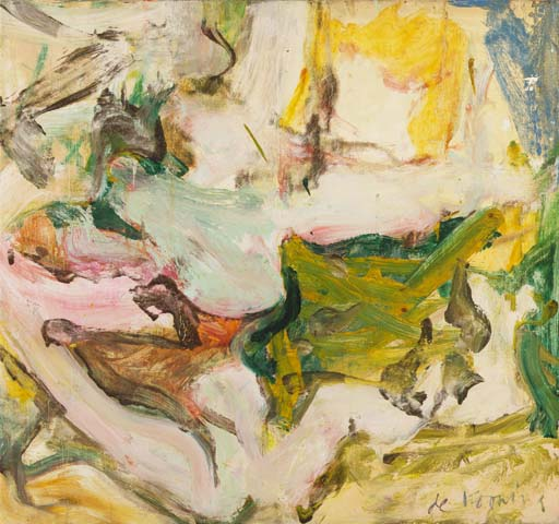 Willem de Kooning-Untitled (Abstract Painting, Oil on Canvas)-1962