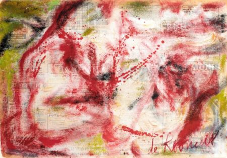 Willem de Kooning-Untitled (Abstract Red and White Painting)-1964