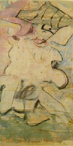Willem de Kooning-Untitled (Oil and Charcoal Painting)-1964