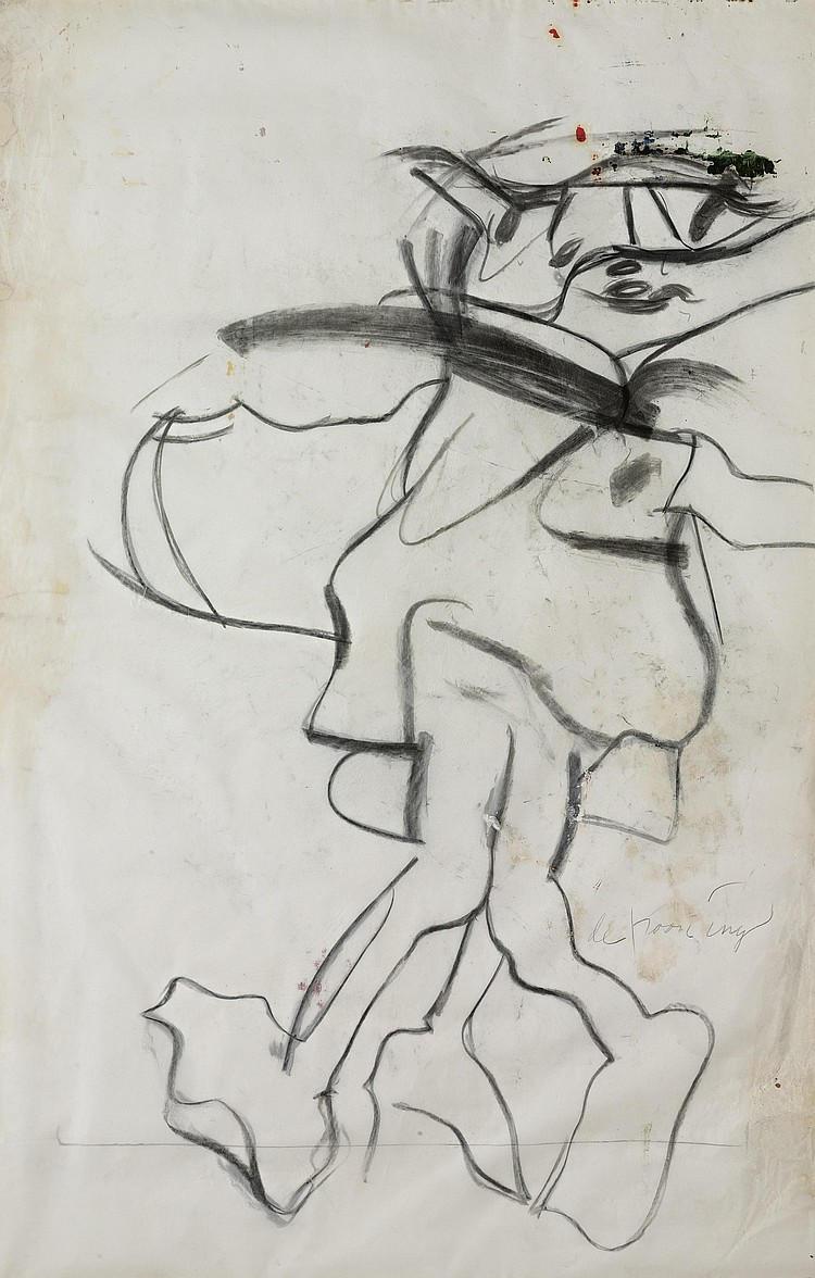 Willem de Kooning-Untitled (Figure Drawing)-1964