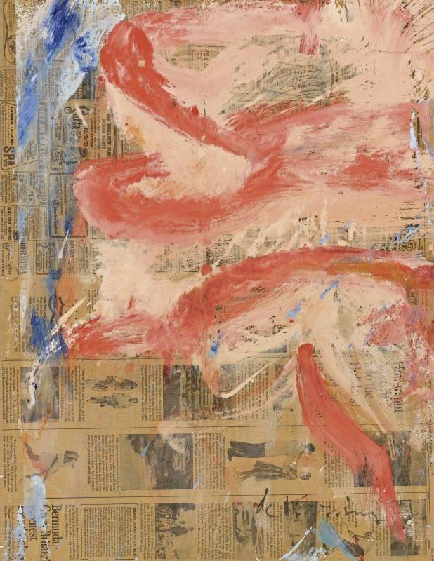 Willem de Kooning-Untitled (Red and White Abstract Painting)-1964