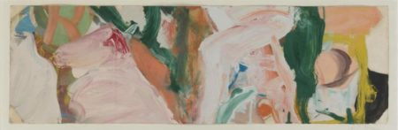 Willem de Kooning-Untitled (White, Green and Yellow Abstract Painting)-1965