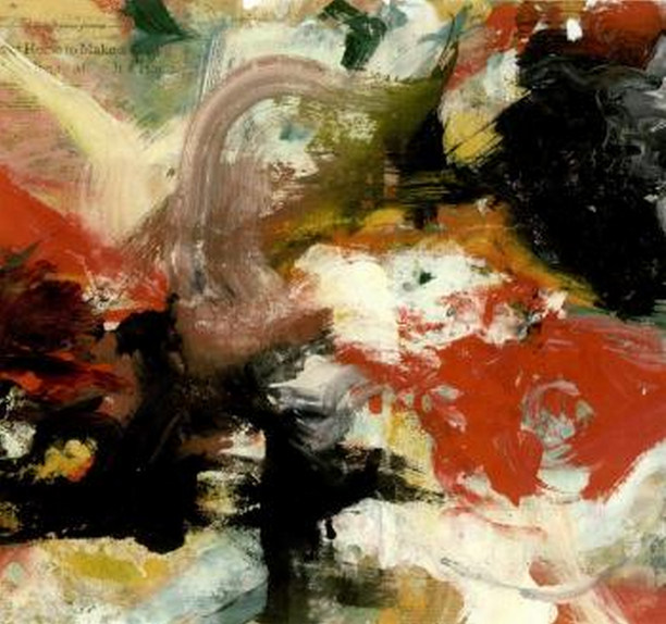Willem de Kooning-Untitled (Black, White and Red Abstract Painting)-1965