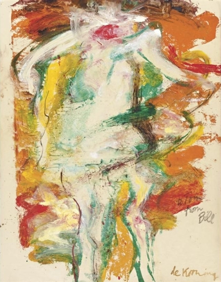 Willem de Kooning-Untitled (Figure Painting, 'to Tom from Bill')-1965