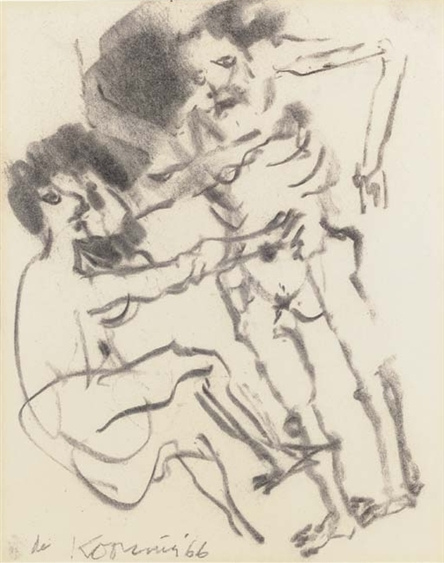 Willem de Kooning-Untitled (Two Persons Drawing)-1966