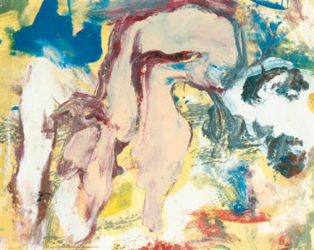 Willem de Kooning-Untitled (Abstract Painting, Oil on Paper)-1968