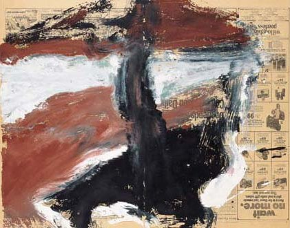 Willem de Kooning-Untitled (Red, Black and White Abstract Painting)-1969