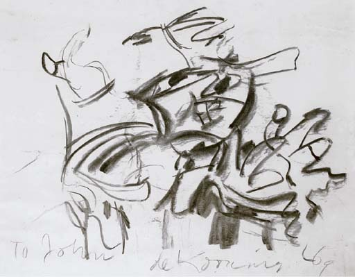 Willem de Kooning-Untitled (Abstract Charcoal Drawing)-1969