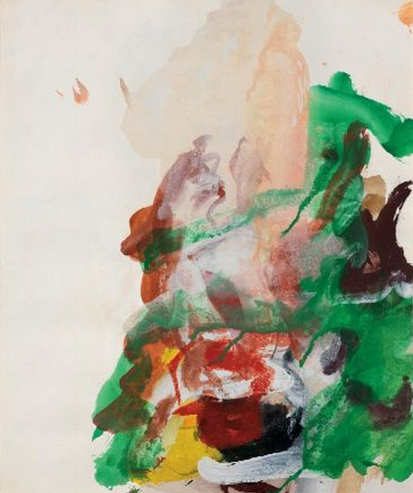 Willem de Kooning-Untitled (Green, Brown and Yellow Abstract Painting)-1970