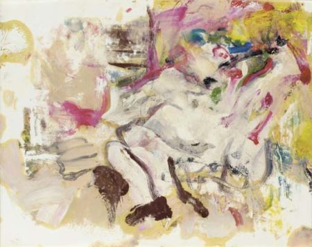Willem de Kooning-Untitled (Abstract Painting, Oil on Paper)-1975