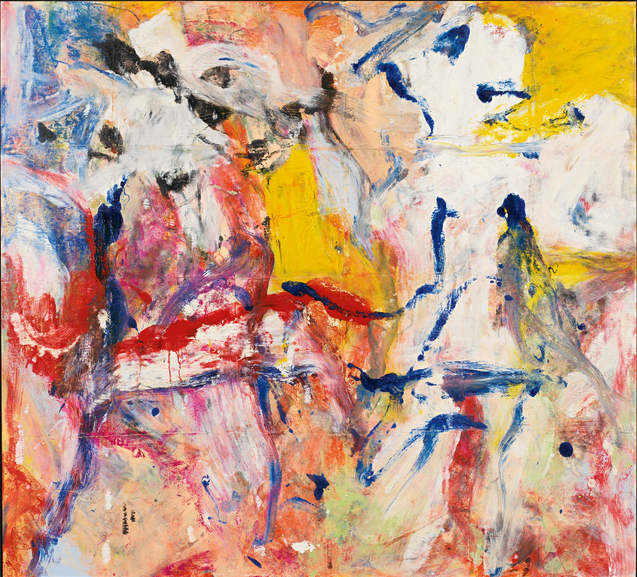 Willem de Kooning-Untitled (Yellow, Blue, Black and Red Abstract Painting)-1977