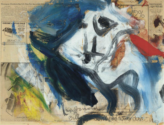 Willem de Kooning-Untitled (Navy Blue, White, Red and Yellow Painting)-1978