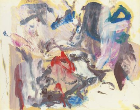 Willem de Kooning-Untitled (Abstract Painting, Oil on Paper)-1979