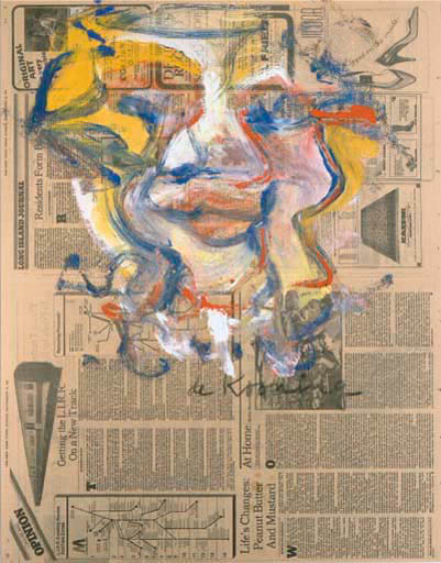 Willem de Kooning-Untitled (Yellow, Blue, White and Orange Painting)-1981