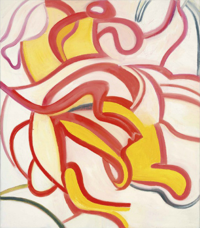 Willem de Kooning-Untitled (Red and Yellow Curve Lines)-1987
