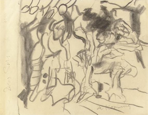 Willem de Kooning-Untitled (Abstract Drawing, 'Dear Su..')-1982