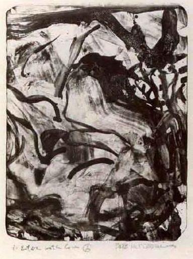 Willem de Kooning-Untitled (Abstract Lithograph)-1971