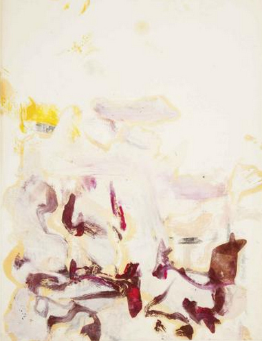 Willem de Kooning-Untitled (Abstract Painting, Oil on Paper)-1960