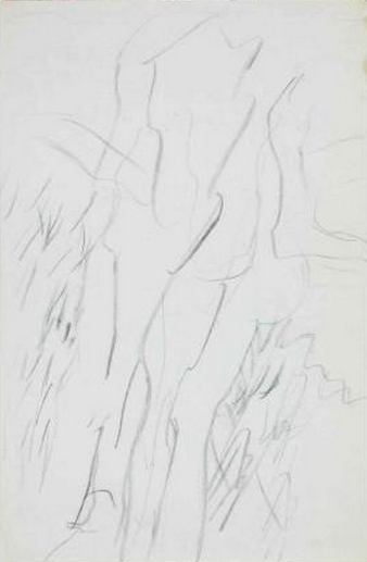 Willem de Kooning-Untitled (Body Drawing, Charcoal on Paper)-