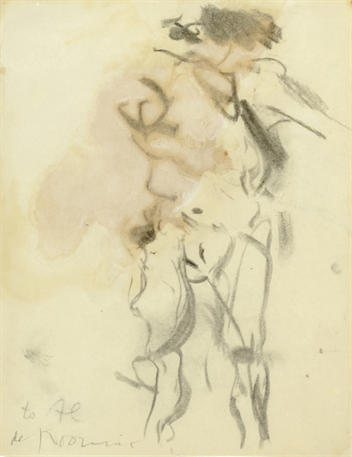 Willem de Kooning-Untitled (Charcoal and Oil Drawing)-1963