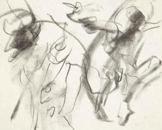 Willem de Kooning-Untitled (Charcoal on Paper)-