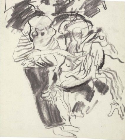 Willem de Kooning-Untitled (Drawing, Charcoal on Vellum)-1970