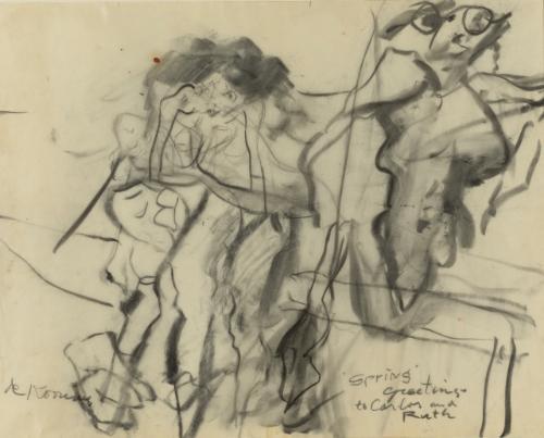 Willem de Kooning-Untitled (Clamdigger Series)-1965