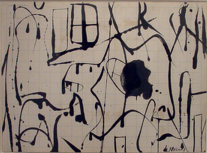 Willem de Kooning-Untitled (Double-sided drawing)-1950