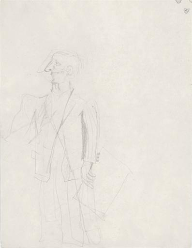 Willem de Kooning-Untitled (Drawing of Man in a Suit)-1939