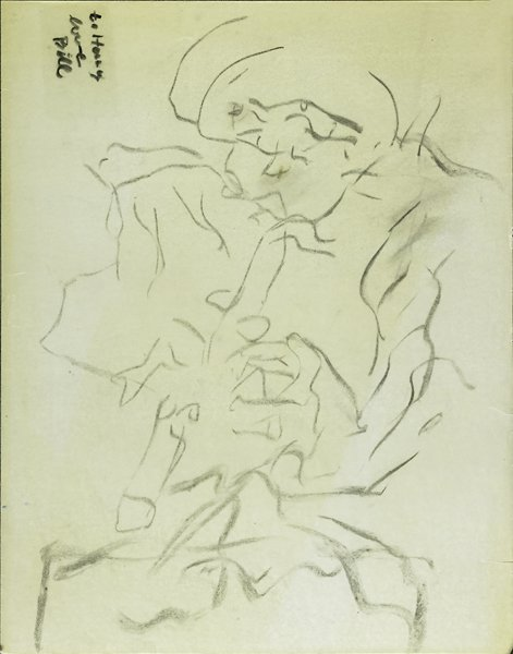 Willem de Kooning-Untitled (Drawing of Man, 'to Henry)-