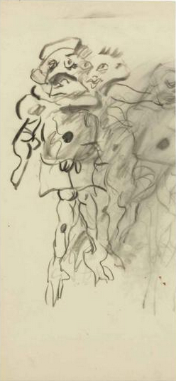 Willem de Kooning-Untitled (Drawing of Three Persons)-1970