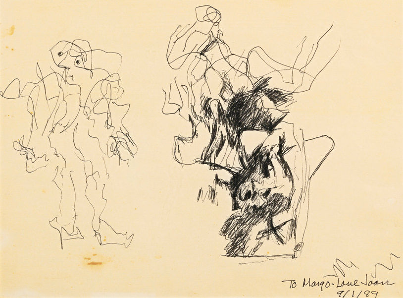 Willem de Kooning-Untitled (Drawing, 'to Margo')-1968