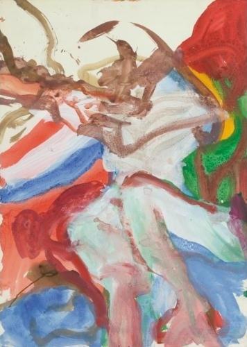 Willem de Kooning-Untitled (Figure)-1970