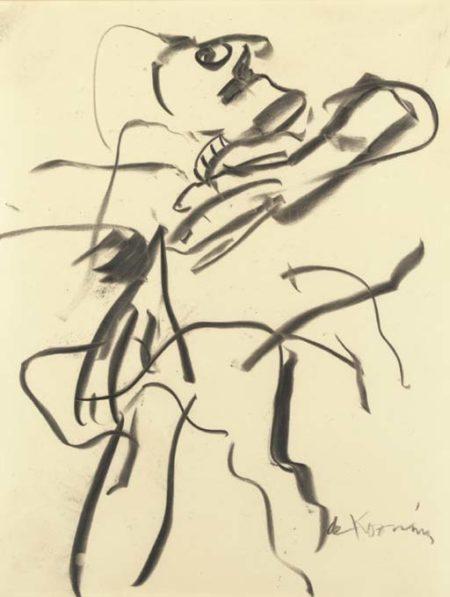 Willem de Kooning-Untitled (Figure Drawing)-1969